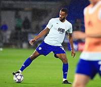 28th September 2021; Cardiff City Stadium, Cardiff, Wales;  EFL Championship football, Cardiff versus West Bromwich Albion; Curtis Nelson of Cardiff City warms up before the game
