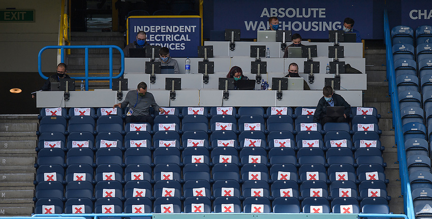 Social distancing in the stands at the The John Smith's Stadium - Huddersfield<br /> <br /> Photographer Dave Howarth/CameraSport<br /> <br /> The EFL Sky Bet Championship - Huddersfield Town v Norwich - Saturday September 12th 2020 - The John Smith's Stadium - Huddersfield<br /> <br /> World Copyright © 2020 CameraSport. All rights reserved. 43 Linden Ave. Countesthorpe. Leicester. England. LE8 5PG - Tel: +44 (0) 116 277 4147 - admin@camerasport.com - www.camerasport.com