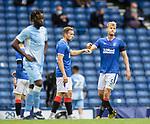 25.07.2020 Rangers v Coventry City:  Filip Helander and Greg Stewart at full time