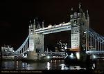 Tower Bridge, Bascule and Suspension Bridge, f/2.8, River Thames, London, England, UK