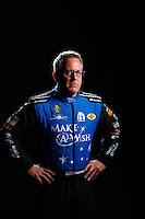 Feb 8, 2017; Pomona, CA, USA; NHRA funny car driver Tommy Johnson Jr poses for a portrait during media day at Auto Club Raceway at Pomona. Mandatory Credit: Mark J. Rebilas-USA TODAY Sports