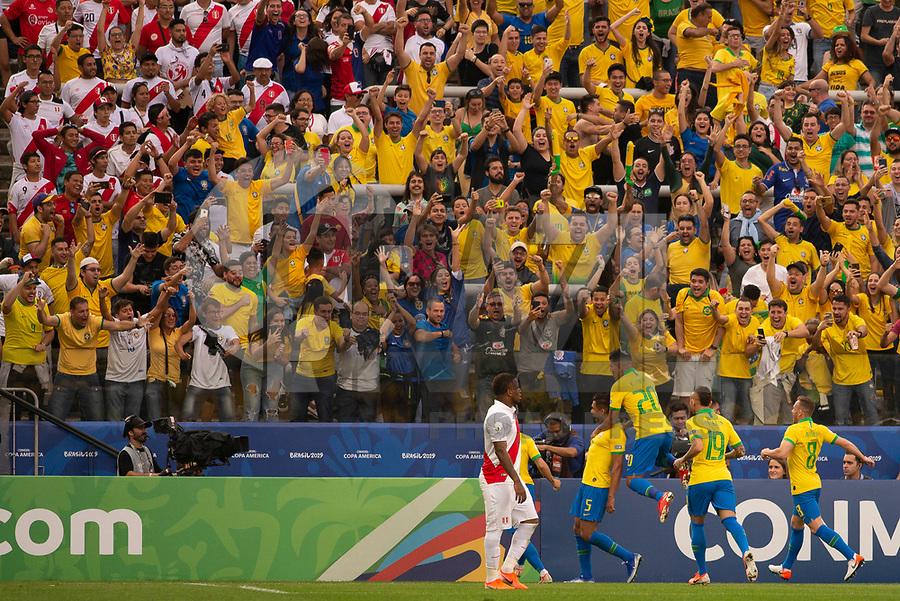 Sao Paulo (SP), 22/06/2019 - Casemiro do Brasil comemora seu gol durante partida contra o Peru jogo válido pela terceira rodada do Grupo A da Copa América na Arena Corinthians em São Paulo neste sábado, 22. (Foto: Anderson LiraBrazil Photo Press)