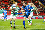St Johnstone v Celtic..27.10.10  .Murray Davidson and Glenn Loovens.Picture by Graeme Hart..Copyright Perthshire Picture Agency.Tel: 01738 623350  Mobile: 07990 594431