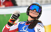 29th December 2020; Semmering, Austria; FIS Womens Giant Slalom World Cu Skiing; Franziska Gritsch of Austria reacts after her 1st run of women Slalom competition of FIS ski alpine world cup at the Panoramapiste in Semmering