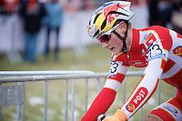 Simon Andreassen (DEN) up close <br /> <br /> Men Juniors Race<br /> <br /> 2015 UCI World Championships Cyclocross <br /> Tabor, Czech Republic