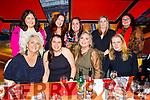 Enjoying the evening in Ristorante Uno on Saturday.<br /> Seated l to r: Caroline Corrigan, Carol Crean, Sharon Heffernan and Jackie Healy.<br /> Back l to r:  Rachel Foran, Elaine Bowler, Mary Molloy, Tracy Moynihan and Charmaine Rola