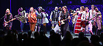 The Go-Go's: Charlotte Caffey, Belinda Carlisle, Kathy Valentine and Jane Wiedlin perform during a special curtain call at Broadway's 'Head Over Heels' on July 12, 2018 at the Hudson Theatre in New York City.