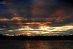 Burnt Jacket Point at sunset, Moosehead Lake, ME.