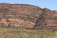 Bergketen in Flinders Ranges, Australië