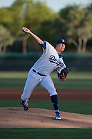 AZL Dodgers starting pitcher James Marinan (31) delivers a pitch during an Arizona League game against the AZL White Sox at Camelback Ranch on July 3, 2018 in Glendale, Arizona. The AZL Dodgers defeated the AZL White Sox by a score of 10-5. (Zachary Lucy/Four Seam Images)