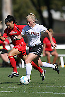 16 September 2007: Stanford Cardinal Alicia Jenkins during Stanford's 4-1 win in the Stanford Invitational against the Rutgers Scarlet Knights at Maloney Field in Stanford, CA.
