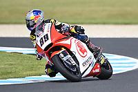 October 27, 2018: Khairul Idham Pawi (MAL) on the No.89 KALEX from Idemitsu Honda Team Asia during the Moto2 practice session three at the 2018 MotoGP of Australia at Phillip Island Grand Prix Circuit, Victoria, Australia. Photo Sydney Low