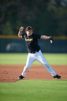 Jonathan Barber (16), from Chesapeake Beach, Maryland, while playing for the Pirates during the Baseball Factory Pirate City Christmas Camp & Tournament on December 28, 2017 at Pirate City in Bradenton, Florida.  (Mike Janes/Four Seam Images)
