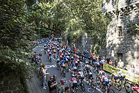 Peloton up the Keyzerberg <br /> <br /> Women Elite – Road Race (WC)<br /> Race from Antwerp to Leuven (157.7km)<br /> <br /> ©kramon