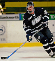 6 January 2007: University of New Hampshire forward Shawn Vinz (24) from Rochester, MN, warms up against the University of Vermont Catamounts at Gutterson Fieldhouse in Burlington, Vermont. The UNH Wildcats defeated Vermont 2-1 to sweep the two-game weekend series in front of a record setting 49th consecutive sellout at the Gut...Mandatory Photo Credit: Ed Wolfstein Photo.<br />