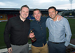 St Johnstone Player of the Year Awards...04.05.13.We Are Perth Forum Goal of the Season Award went to Paddy Cregg for the goal he scored against Hibs at Easter Road, presented by Paul Taylor and Steven Watt..Picture by Graeme Hart..Copyright Perthshire Picture Agency.Tel: 01738 623350  Mobile: 07990 594431