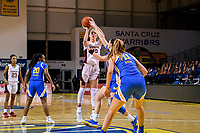 SANTA CRUZ, CA - JANUARY 22: Lexie Hull #12 takes a shot during the Stanford Cardinal women's basketball game vs the UCLA Bruin at Kaiser Arena on January 22, 2021 in Santa Cruz, California.