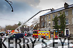 Fire at Mary Anne's tearooms in Denny Street on Wednesday.