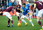 St Johnstone v Hearts…29.09.18…   Tynecastle     SPFL<br />Matty Kennedy takes on Michael Smith<br />Picture by Graeme Hart. <br />Copyright Perthshire Picture Agency<br />Tel: 01738 623350  Mobile: 07990 594431
