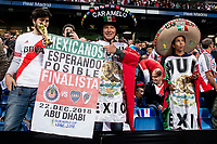 Mexicans fans during  Commebol Final Match between River Plate and Boca Juniors at Santiago Bernabeu Stadium in Madrid, Spain. December 09, 2018. (ALTERPHOTOS/Borja B.Hojas) /NortePhoto.com
