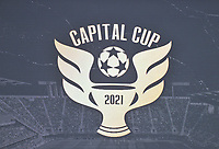 WASHINGTON, DC - JULY 7: Capital Cup logo during a game between Liga Deportiva Alajuense  and D.C. United at Audi Field on July 7, 2021 in Washington, DC.