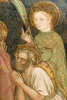 Italien, Umbrien, Museum Trinci in Foligno, Leben der Jungfrau Maria im Kapellenraum gemalt 1424 von Ottaviano Nelli