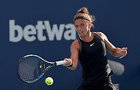 MIAMI GARDENS, FL - MARCH 22: Sara Errani seen playing in Qualifying round on day 1 of the Miami Open on March 22, 2021 at Hard Rock Stadium in Miami Gardens, Florida. <br /> <br /> <br /> People:  Sara Errani