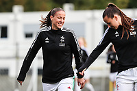 Lenie Onzia (8) of OH Leuven pictured during a female soccer game between Oud Heverlee Leuven and RSC Anderlecht on the fifth matchday of the 2021 - 2022 season of Belgian Womens Super League , sunday 3 October 2021  in Leuven , Belgium . PHOTO SPORTPIX.BE   SEVIL OKTEM