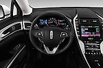 Car pictures of steering wheel view of a 2016 Lincoln MKZ Hybrid 4 Door Sedan Steering Wheel
