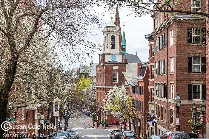 The Charles Street Meetinghouse on Beacon Hill, Boston, Massachusetts, USA
