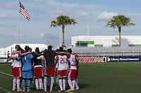 LAKEWOOD RANCH, FL - December 1, 2016: U-17/18 FC Dallas vs NY Red Bulls. 2016 Nike International Friendlies at Premier Sports Campus.