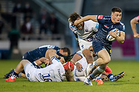 28th May 2021; AJ Bell Stadium, Salford, Lancashire, England; English Premiership Rugby, Sale Sharks versus Bristol Bears; Raffi Quirke of Sale Sharks powers forward with the ball