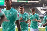 19.09.2020, wohninvest Weserstadion, Bremen, GER,  SV Werder Bremen vs Hertha BSC Berlin, <br /> <br /> <br />  im Bild<br /> <br /> Davie Selke  (SV Werder Bremen #09)<br /> Milos Veljkovic (Werder Bremen #13)<br /> Pattrick Erras (Werder Bremen Neuzugang 29<br /> <br /> Foto © nordphoto / Kokenge<br /> <br /> DFL regulations prohibit any use of photographs as image sequences and/or quasi-video.