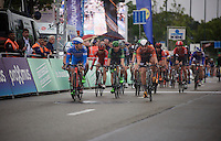 VERY close call to judge who actually won the race: Dylan Groenewegen (NLD/Roompot) or Roy Jans (BEL/Wanty-Groupe Gobert). The jury is in doubt and first declares Jans the winner, but the finish photo shows Groenewegen an inch in front over the finish line. He wins.<br /> <br /> Brussels Cycling Classic 2015