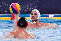 20-02-2021: Waterpolo: France v Canada: Rotterdam<br /> <br /> ROTTERDAM, NETHERLANDS - FEBRUARY 20: Charles Canonne of France during the Olympic Waterpolo Qualification Tournament 2021 match between France and Canada at Zwemcentrum Rotterdam on February 20, 2021 in Rotterdam, Netherlands (Photo by Marcel ter Bals/Orange Pictures)