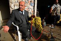 GERICO / ISRAELE.MERCATO ORTOFRUTTICOLO..NELLA FOTO KEMAL DWEIK, NOTO PRODUTTORE DI DATTERI E BANANE..FOTO LIVIO SENIGALLIESI