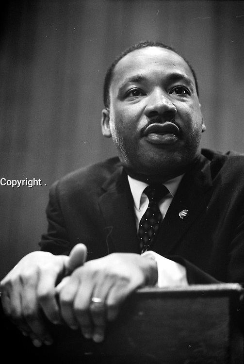 Martin Luther King press conference, by Marion S. Trikosko, March 26, 1964