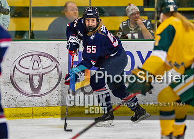 8 February 2020: University of Connecticut Husky Forward Viki Harkness, a Sophomore from Berwick, Ontario, in first period action against the University of Vermont Catamounts at Gutterson Fieldhouse in Burlington, Vermont. The Huskies defeated the Lady Cats 4-2 in the first game of their weekend Hockey East series. Mandatory Credit: Ed Wolfstein Photo *** RAW (NEF) Image File Available ***