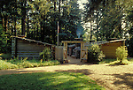 Replica of fort where the Lewis & Clark Expedition spent the winter of 1805-1806; .Fort Clatsop National Memorial, Oregon.  .#2319-0112
