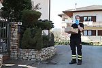 Pergine Valsugana, Italy. April 10 2020: Coronavirus Pandemic - Protective Masks Distribution to the population in Pergine Valsugana, Italy on April 10, 2020. Free surgical Masks delivery at the population in the letter box by the firemen. Wearing a mask is now compulsory for shopping or going inside public buildings. Most part of Europe is on a sweeping lockdown to try to slow down the spread of coronavirus pandemic.