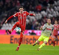 13.12.2017,  Football 1.Liga 2017/2018, 14. match day, FC Bayern Muenchen - 1.FC Koeln, in Allianz-Arena Muenchen. Sebastian Rudy (FC Bayern Muenchen) . *** Local Caption *** © pixathlon<br /> <br /> +++ NED + SUI out !!! +++<br /> Contact: +49-40-22 63 02 60 , info@pixathlon.de