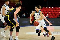 24-03-2021: Basketbal: Donar Groningen v Landstede Hammers: Groningen, Donar speler Leon Williams met Landstede speler Noah Dahlman