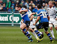 Photo: Richard Lane/Richard Lane Photography. Bath Rugby v Leinster. Heineken Cup. 11/12/2011. Bath's Jack Cuthbert attacks.