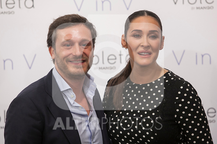 Vicky Martin Berrocal and Juan Pena pose during V in V Violeta by Mango presentation in Madrid, Spain. March 11, 2015. (ALTERPHOTOS/Victor Blanco)