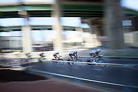 Team Ag2r-La Mondiale speeding<br /> <br /> Elite Men's Team Time Trial<br /> UCI Road World Championships Richmond 2015 / USA
