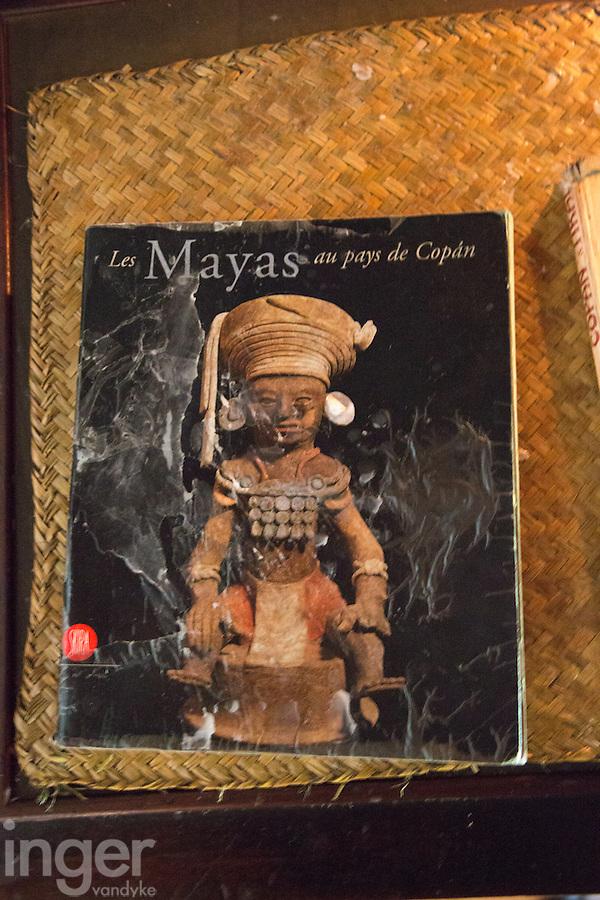 French book on Archaeology at Copan, the Hacienda San Lucas, Ruinas Copan, Honduras