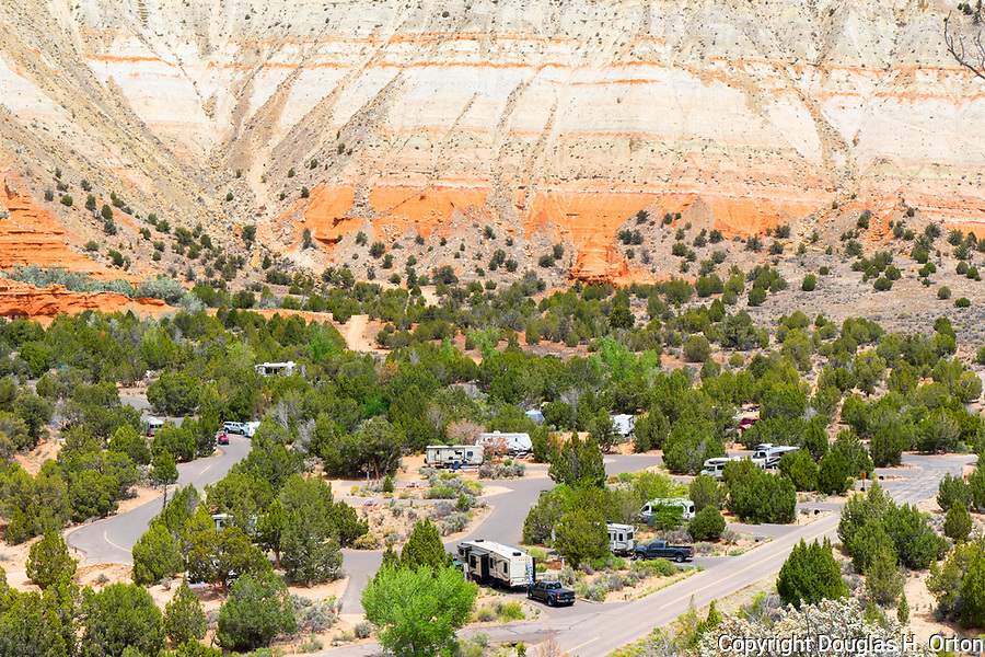 Kodachrome Basin State Park, in southern Utah, USA features unique geography and geology of sandstone formations.