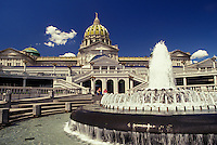 AJ2730, State Capitol, Harrisburg, State House, Pennsylvania, Fountain in the Capitol Complex of the Capitol Building in Harrisburg the capital city in the state of Pennsylvania.