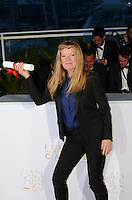 Director Andrea Arnold poses after being awarded the Jury Prize for the movie 'American Honey' during the Palme D'Or Winner Photocall during the 69th annual Cannes Film Festival at the Palais des Festivals on May 22, 2016 in Cannes, France.