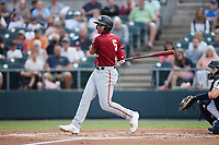 Cal Mitchell (5) of the Altoona Curve at bat against the Somerset Patriots at TD Bank Ballpark on July 24, 2021, in Somerset NJ. (Brian Westerholt/Four Seam Images)